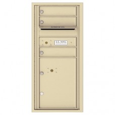 3 Tenant Doors with 1 Parcel Locker and Outgoing Mail Compartment - 4C Wall Mount ADA Max Height Mailboxes - 4CADS-03