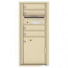 4 Tenant Doors with 1 Parcel Locker and Outgoing Mail Compartment - 4C Wall Mount ADA Max Height Mailboxes - 4CADS-04