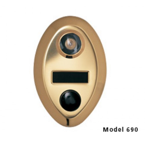 Mechanical door chime with name cards anodized gold 690 1 for 1 by one door chime