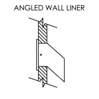 "8"" Angled Wall liner for LD12 (Liner only) - Optional Accessory - LD12L8B"