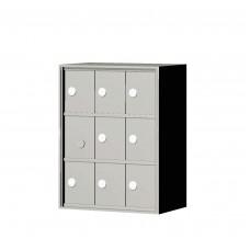 """Custom Front Load Mini Storage Locker - 7.5"""" Deep.  3 Doors High x 3 Doors Wide - MINI33F-SP"""