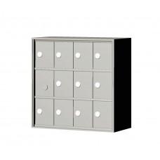 """Custom Front Load Mini Storage Locker - 7.5"""" Deep.  3 Doors High x 4 Doors Wide - MINI34F-SP"""