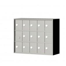 """Custom Front Load Mini Storage Locker - 7.5"""" Deep.  3 Doors High x 5 Doors Wide - MINI35F-SP"""