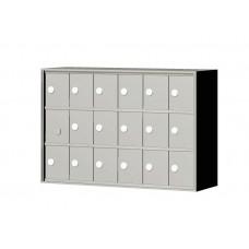 """Custom Front Load Mini Storage Locker - 7.5"""" Deep.  3 Doors High x 6 Doors Wide - MINI36F-SP"""