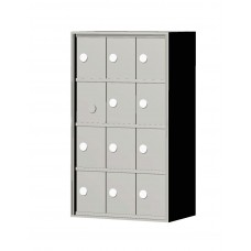 """Custom Front Load Mini Storage Locker - 7.5"""" Deep.  4 Doors High x 3 Doors Wide - MINI43F-SP"""