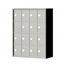 """Custom Front Load Mini Storage Locker - 7.5"""" Deep.  4 Doors High x 4 Doors Wide - MINI44F-SP"""