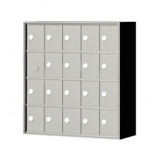 """Custom Front Load Mini Storage Locker - 7.5"""" Deep.  4 Doors High x 5 Doors Wide - MINI45F-SP"""