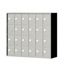 """Custom Front Load Mini Storage Locker - 7.5"""" Deep.  4 Doors High x 6 Doors Wide - MINI46F-SP"""