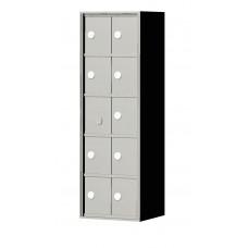 """Custom Front Load Mini Storage Locker - 7.5"""" Deep.  5 Doors High x 2 Doors Wide - MINI52F-SP"""