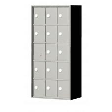 """Custom Front Load Mini Storage Locker - 7.5"""" Deep.  5 Doors High x 3 Doors Wide - MINI53F-SP"""