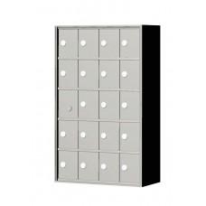 """Custom Front Load Mini Storage Locker - 7.5"""" Deep.  5 Doors High x 4 Doors Wide - MINI54F-SP"""