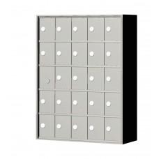 """Custom Front Load Mini Storage Locker - 7.5"""" Deep.  5 Doors High x 5 Doors Wide - MINI55F-SP"""