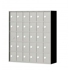 """Custom Front Load Mini Storage Locker - 7.5"""" Deep.  5 Doors High x 6 Doors Wide - MINI56F-SP"""
