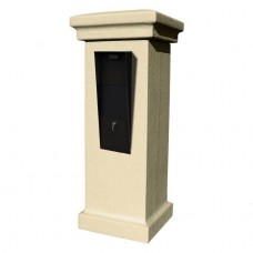 QualArc Vacation Mailbox Stucco Column Column in Sandstone Color - Model VAC-STUCOL-SS
