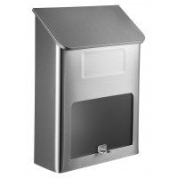 QualArc Metros Stainless Steel Mailbox with Window - Model WF-L002